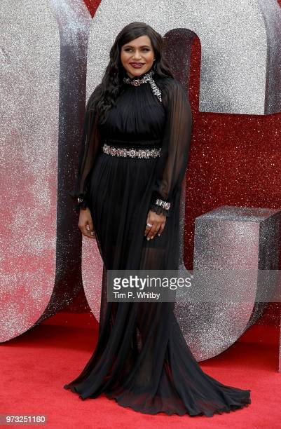 Mindy Kaling attends the 'Ocean's 8' UK Premiere held at Cineworld Leicester Square on June 13 2018 in London England