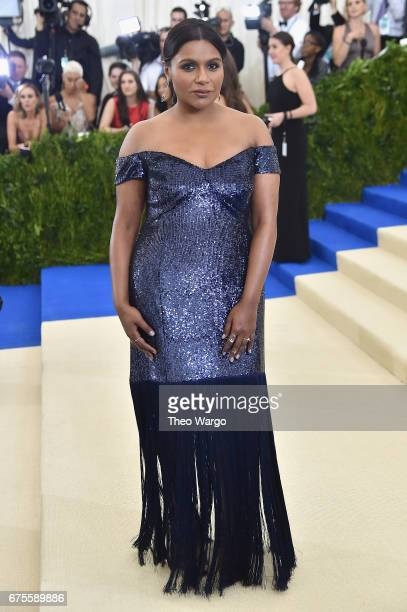 Mindy Kaling attends the 'Rei Kawakubo/Comme des Garcons Art Of The InBetween' Costume Institute Gala at Metropolitan Museum of Art on May 1 2017 in...