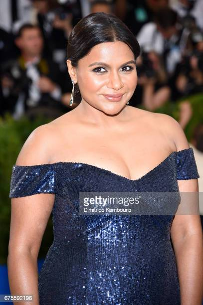 Mindy Kaling attends the Rei Kawakubo/Comme des Garcons Art Of The InBetween Costume Institute Gala at Metropolitan Museum of Art on May 1 2017 in...