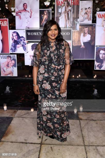 Mindy Kaling attends Vanity Fair and Lancome Paris Toast Women in Hollywood hosted by Radhika Jones and Ava DuVernay on March 1 2018 in West...