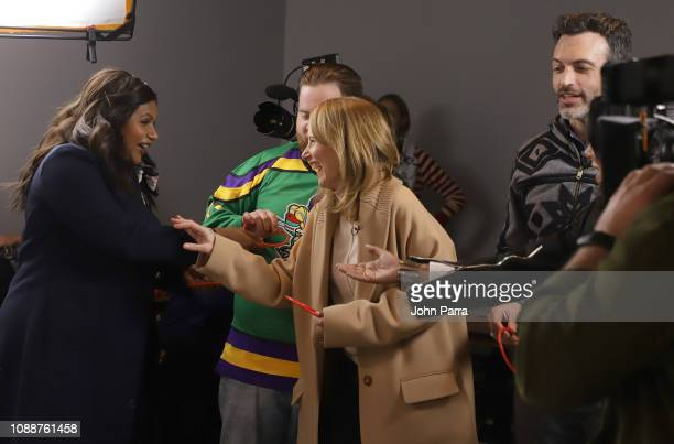 Mindy Kaling Paul Walter Hauser Amy Ryan and Reid Scott from Late Night attend The Hollywood Reporter 2019 Sundance Studio At Sky Strada Park City on...