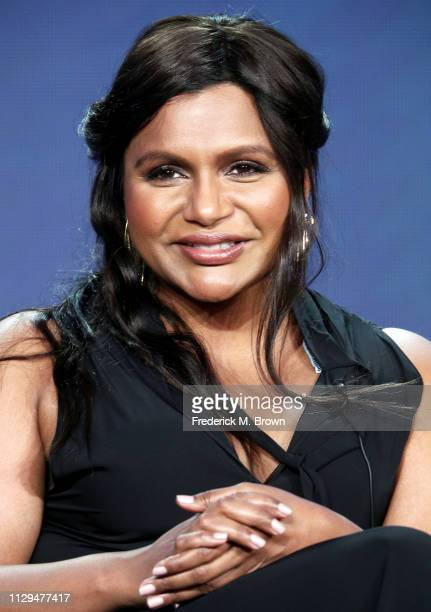 Mindy Kaling speaks during the Amazon Prime Video Visionary Voices segment of the 2019 Winter Television Critics Association Press Tour at The...