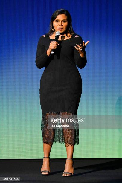 Mindy Kaling speaks onstage during Hulu Upfront 2018 at The Hulu Theater at Madison Square Garden on May 2 2018 in New York City