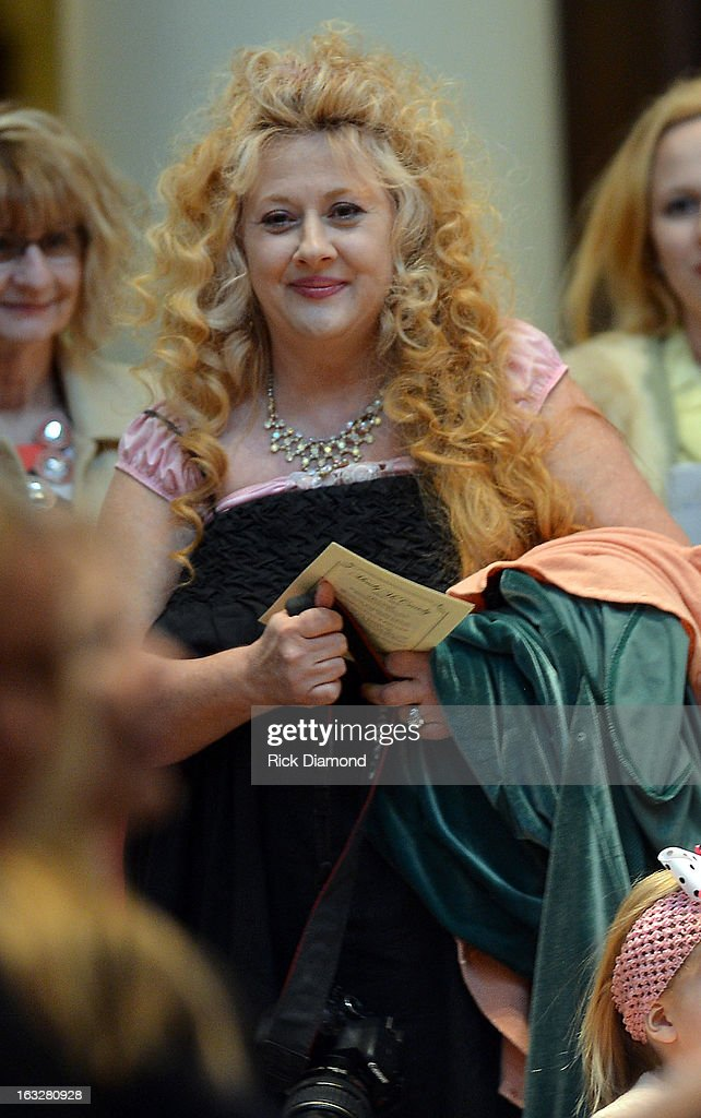 Mindy McCready's Aunt Teri Greene attends the memorial service for Mindy McCready at Cathedral of the Incarnation on March 6, 2013 in Nashville, Tennessee. McCready was found dead from an apparent suicide on February 17, 2013 at her home in Heber Springs, Arkansas.