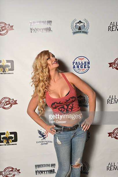 Mindy Robinson lead actress in the film Range 15 at the Grizzly Rose on October 14 2016 in Denver Colorado