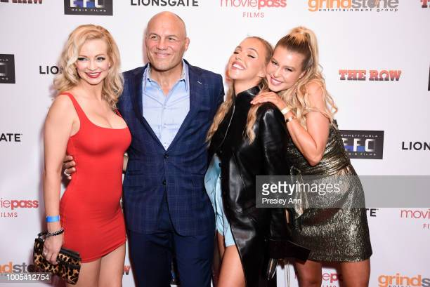 Mindy Robinson Randy Couture Natali Yura and Lexi Atkins attend Special Screening of THE ROW featuring Natali Yura at Sunset 5 on July 25 2018 in...
