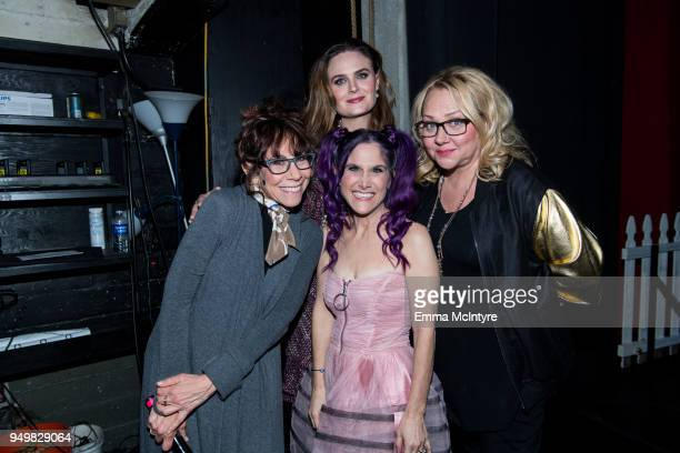 Mindy Sterling, Emily Deschanel, Shawn Simons, and Nicole Sullivan attend 'CATstravaganza featuring Hamilton's Cats' on April 21, 2018 in Hollywood,...