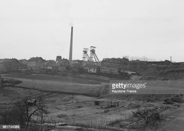Mine de la Sarre en France en mars 1947