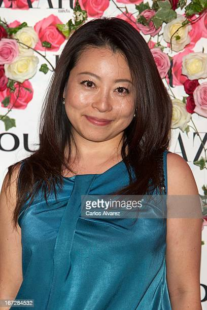"""Mine Kawakami attends the presentation of the new fragance """"Rosa"""" at the Ritz Hotel on April 23, 2013 in Madrid, Spain."""