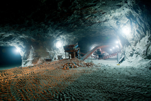 Mine work underground 479924165