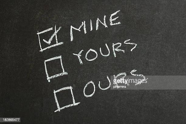Mine, Yours and Ours Checkbox on Blackboard