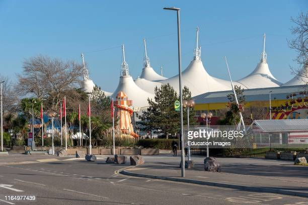 Minehead Somerset England UK An exterior view of Butlins famous holiday camp
