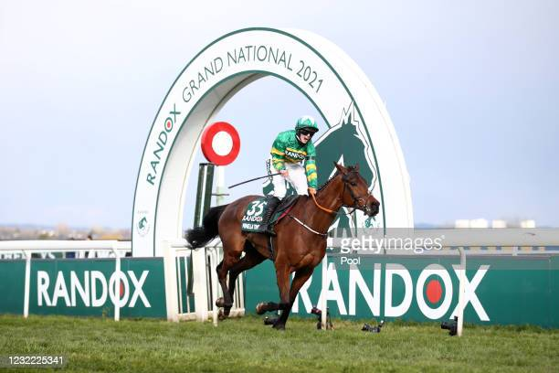 Minella Times ridden by Rachael Blackmore wins the Randox Grand National Handicap Chase on Grand National Day of the 2021 Randox Health Grand...