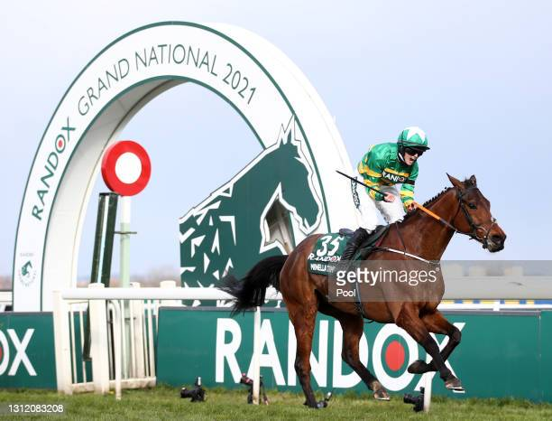 Minella Times ridden by Rachael Blackmore wins the Randox Grand National Handicap Chase during Grand National Day of the 2021 Randox Health Grand...