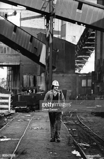 A miner at Maerdy Lodge colliery in Gwent 5th March 1985 Communist party leaders led mine workers back to work without any settlement to the strike