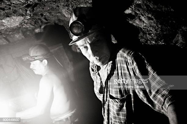 A miner called Arquimides working inside the Millionaire mine The miners work simply for food spending 12 hours underground each day with virtually...