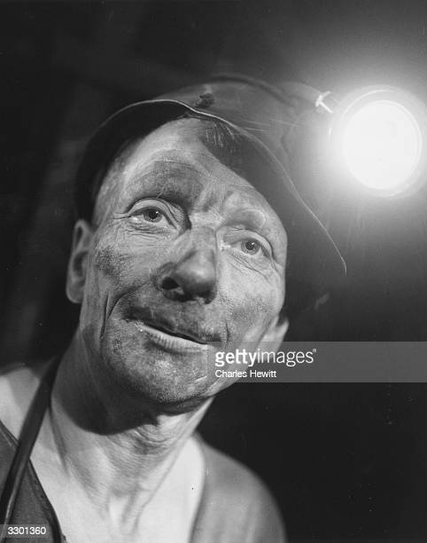 Miner from Highley Colliery, near Aveley, Shropshire. Original Publication: Picture Post - 8479 - Pit Props - unpub.