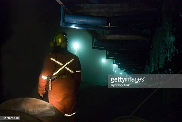 Miner in a Mine Shaft.