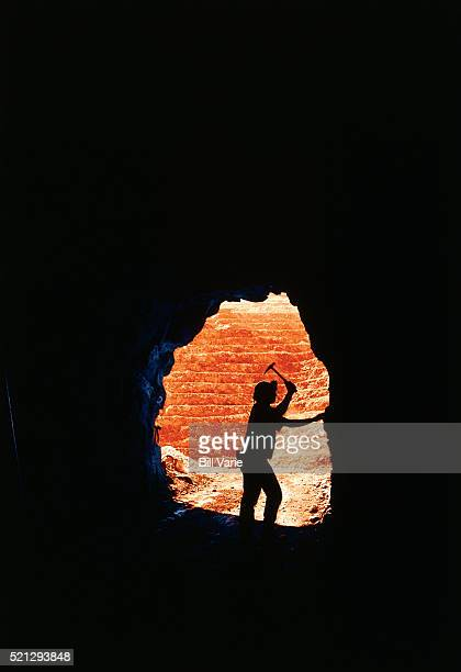 Miner in Tunnel