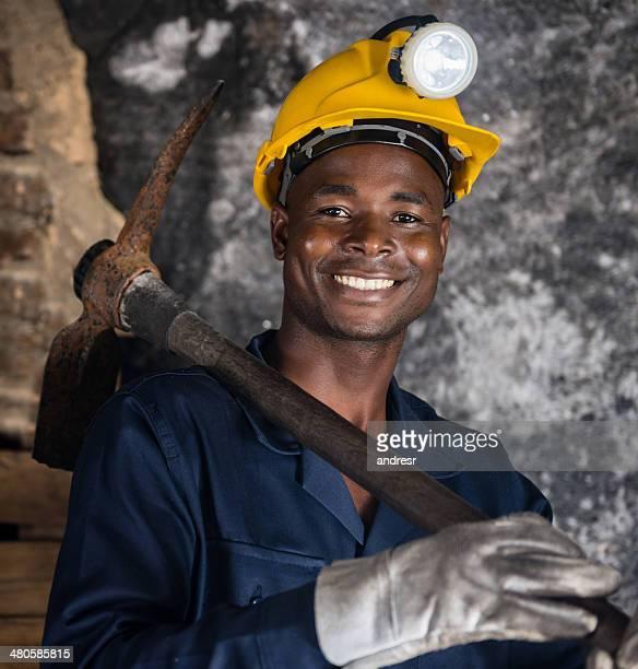 Miner looking happy