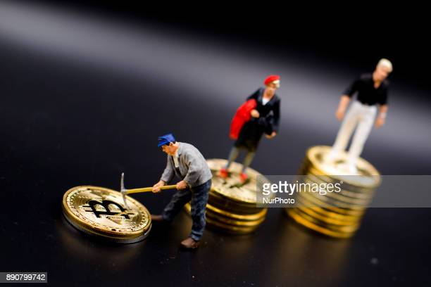 A miner miniature figures near Bitcoin physical coin Futures on Bitcoins increased by more than 20% after their American debut on the Chicago Cboe...