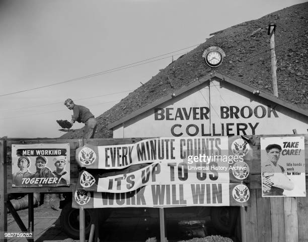 Miner Shoveling Coal during War Production Drive Beaver Brook Pennsylvania USA William Perlitch for Office of War Information October 1942