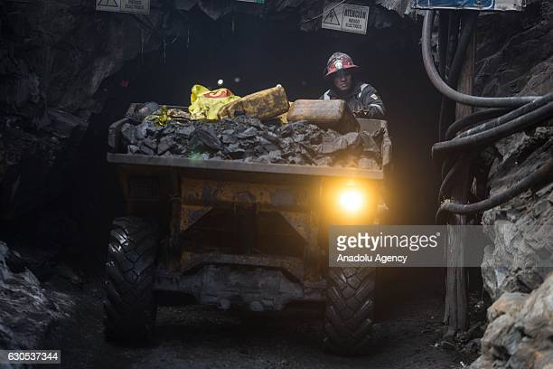 A miner works at a gold mine in La Rinconada the highest permanent settlement in the world in Puno Peru on November 1 2016 Miners work under a system...