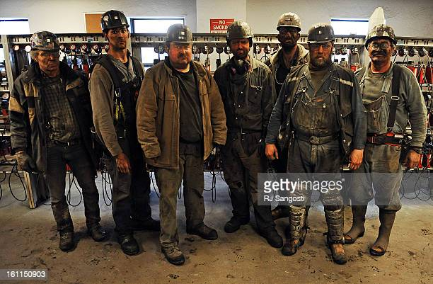 MINER06Coal mining longwall foreman Alan Waddle right with his crew stand for a photo recently at the Oxbox Coal Mine in Somerset Colorado'We just...