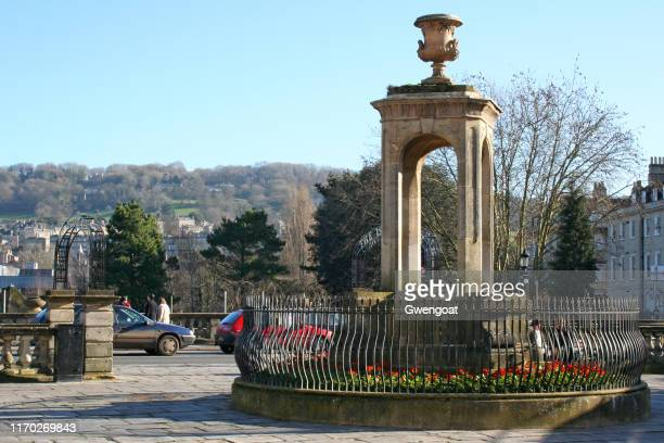 mineral water fountain in bath - gwengoat stock pictures, royalty-free photos & images