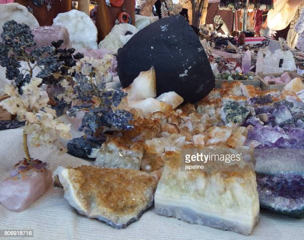 Minerals for sale at a street stall