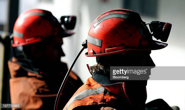 Miners arrive back at the surface after finishing their shift at Centennial Coal Co's Myuna mine in Myuna Australia on Monday Aug 2 2010 Banpu Pcl...