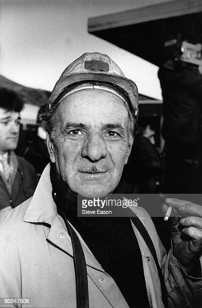 Miners at Maerdy Lodge colliery in Gwent 5th March 1985 Communist party leaders led mine workers back to work without any settlement to the strike
