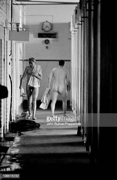 Miners at the pithead baths after a shift at Dawdon Colliery County Durham circa 1963