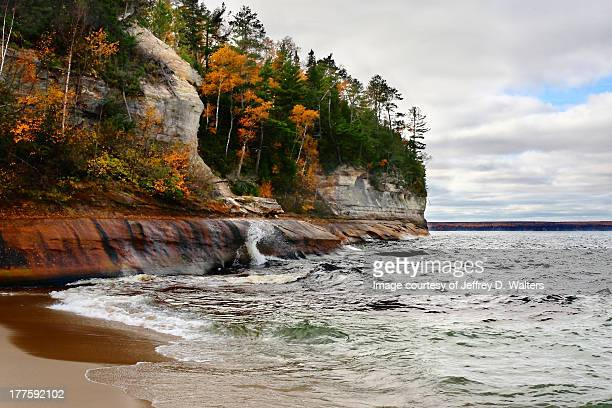 miners beach - munising michigan stock pictures, royalty-free photos & images