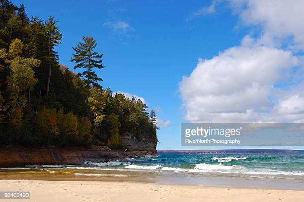 miner's beach - munising michigan stock pictures, royalty-free photos & images