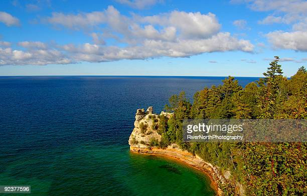 miners castle - pictured rocks national lakeshore stock pictures, royalty-free photos & images