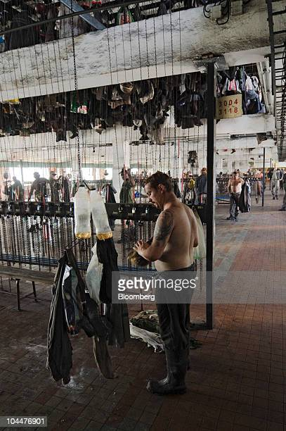 Miners change their clothes after finishing their shift at the OKD AS Darkov coal mine in Ostrava Czech Republic on Friday Sept 24 2010 New World...