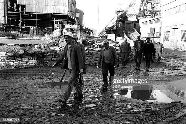 Miners come to the surface and head for home only weeks after the terrible disaster of October 21st 1966 struck the small village of Aberfan Wales...
