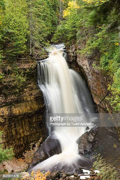 miners falls - pictured rocks national lakeshore stock pictures, royalty-free photos & images