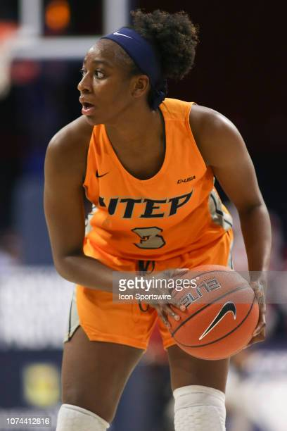 Miners forward Jordan Alexander hold the ball during a college women's basketball game between the UTEP Miners and the Arizona Wildcats on December...