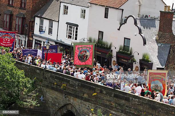 miner's gala in durham, england - gala stock pictures, royalty-free photos & images