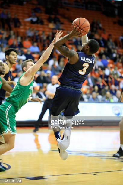 Miners guard Evan Gilyard attempts a jumpshot during the a college basketball game between North Texas Mean Green and UTEP Miners on January 10 at...