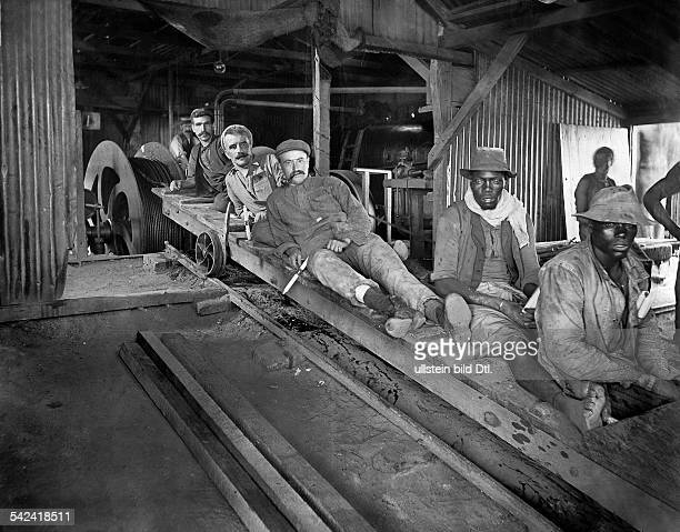 Miners in a gold mine in Transvaal / South Africa 1920ies