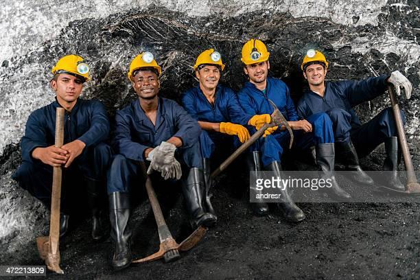 Miners in einer mine