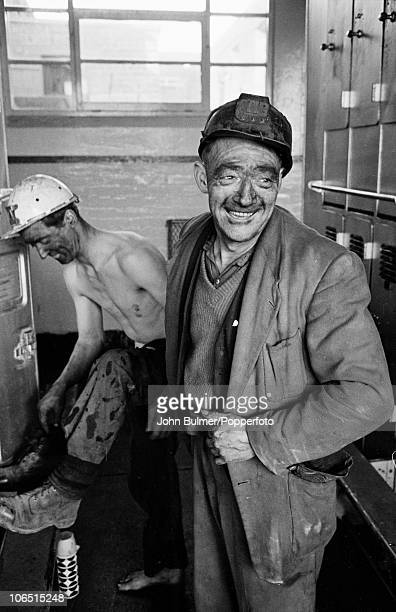 Miners in the locker room after working a shift at Dawdon Colliery County Durham circa 1963