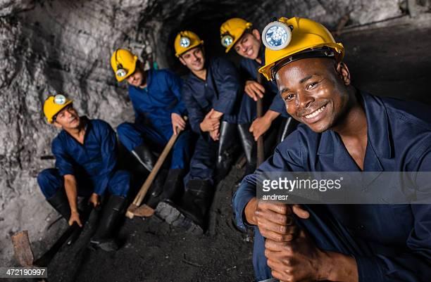 Miners on a break