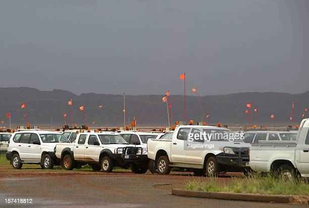 Miners' trucks