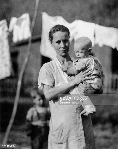 A miner's wife holding a baby Greenview West Virginia circa 1933