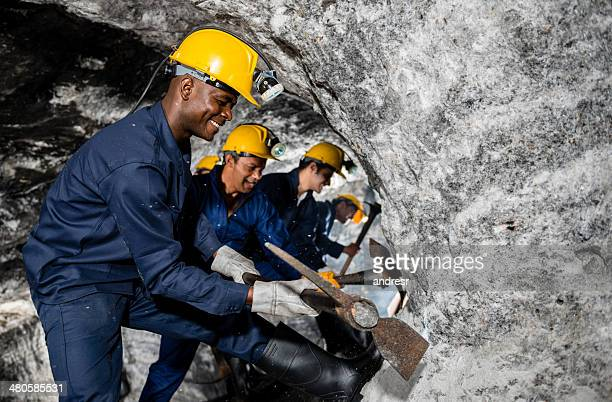 Miners working at the mine