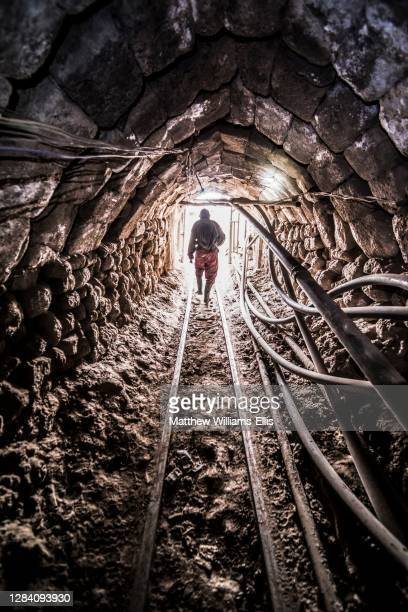 Miners working inside Potosi silver mines, Department of Potosi, Bolivia, South America.